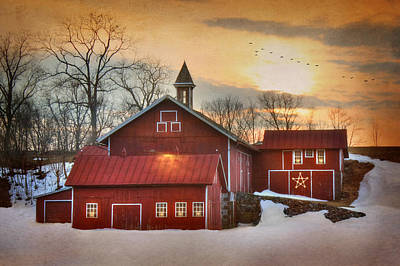 Christmas Holiday Scenery Photograph - Candleglow by Lori Deiter