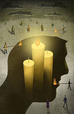 Differences Digital Art - Candlehead by Steve Dininno