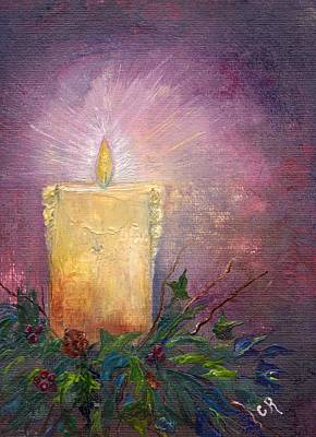 Painting - Candlelight by Carol Rowland