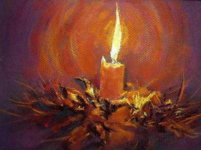 Art Print featuring the painting Candlelight by Jieming Wang