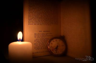 Candlelight Read Art Print by Guy Hoffman
