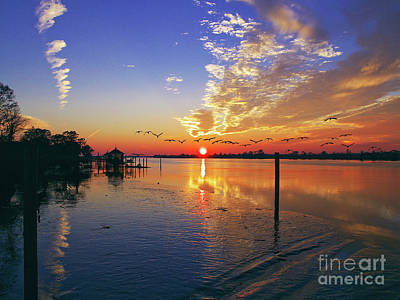 Photograph - Candlelight Sunset by Mike Covington