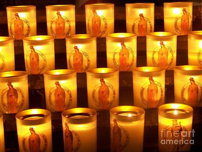 Candlelights - Bougies Notre Dame De Paris - Paris - France Art Print by Francoise Leandre
