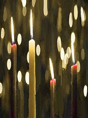 Painting - Candles by Dennis Buckman