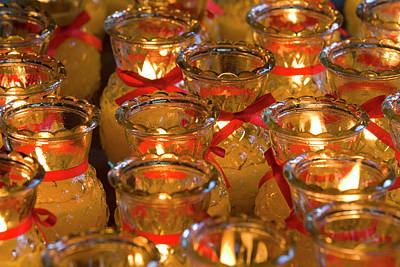 Adam Photograph - Candles In Chinese Temple, Kek Lok Si by Peter Adams