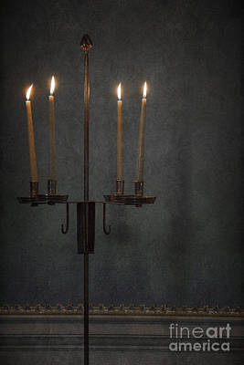 Candles In The Dark Art Print