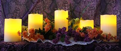 Photograph - Candles Lit by Pamela Walton