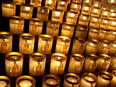 Art Print featuring the photograph Candles Of Cathedrale Notre Dame De Paris by Cleaster Cotton
