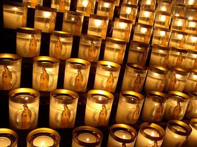 Candles Of Cathedrale Notre Dame De Paris Art Print