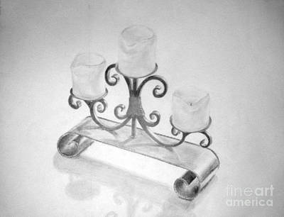 Drawing - Candles by Tamir Barkan