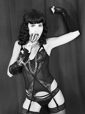 Bettie Page Photograph - Candy Apple Dame Bettie by William Dey