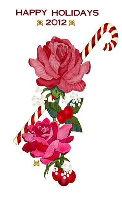 Impressionist Landscapes - Candy Cane and Roses by Anne Norskog