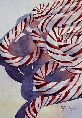 Painting - Candy Cane Christmas by Bobbi Price