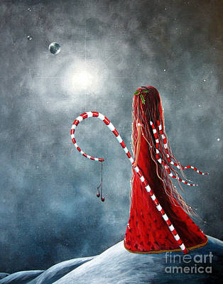 Candy Cane Fairy By Shawna Erback Art Print