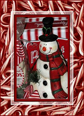 Photograph - Candy Cane Snowman by Chris Anderson