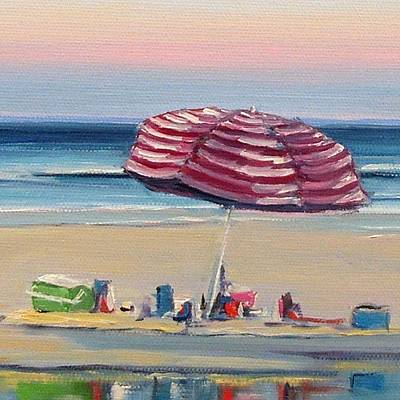 Painting - Candy Cane Umbrella by Dianna Poindexter