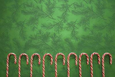 Candy Canes Print by Colette Scharf