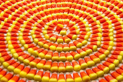 Candy Corn In Circles Original by Teri Virbickis