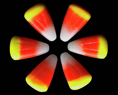 Food Photograph - Candy Corn by Romulo Yanes