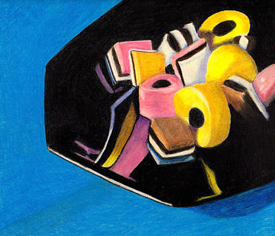 Licorice Drawing - Candy Dish by Jay Johnston