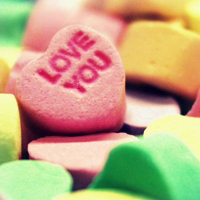 Photograph - Candy Hearts by Joseph Skompski