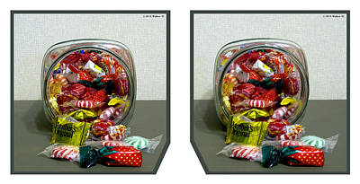 Candy Jar - Cross Your Eyes And Focus On The Middle Image Art Print by Brian Wallace