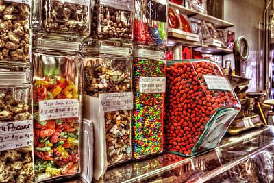 Digital Art - Candy Jars At Peanut Shop by Michael Thomas