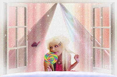 Art Print featuring the digital art Candy Kisses by Liane Wright
