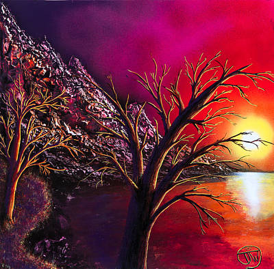 Spraypaint Painting - Candy Morning by Tyrone Webb