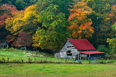 Tn Barn Photograph - Candy Mountain by Debra and Dave Vanderlaan