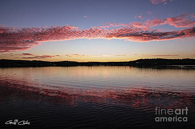 Candy Pink Reflections - Sunrise Art Print by Geoff Childs