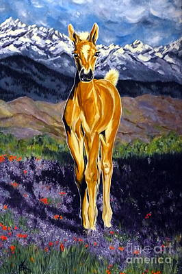 Candy Rocky Mountain Palomino Colt Art Print