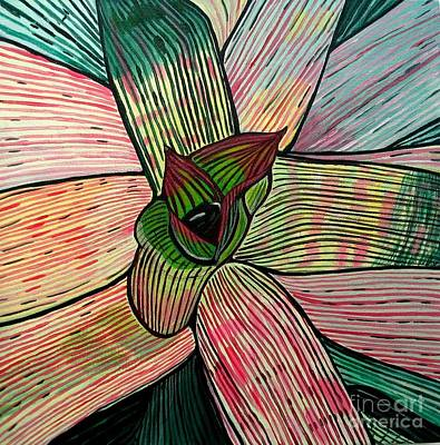 Bromeliad Painting - Candy by Sandra Marie Adams