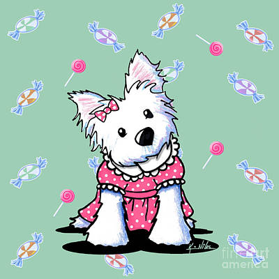 Westie Digital Art - Candy Shop Cutie by Kim Niles