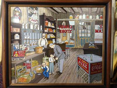 Hargrove Painting - Candy Shop by Hargrove