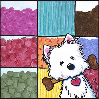 Candy Painting - Candy Shop Westie by Kim Niles