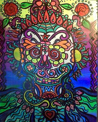 Psychadelic Painting - Candy Skull by Lorinda Fore and Tony Lima