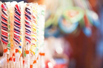 Photograph - Candy Sticks At German Christmas Market by Susan Schmitz