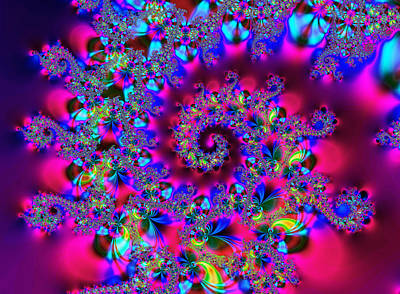 Abstract Digital Digital Art - Candy Swirl by Ian Mitchell