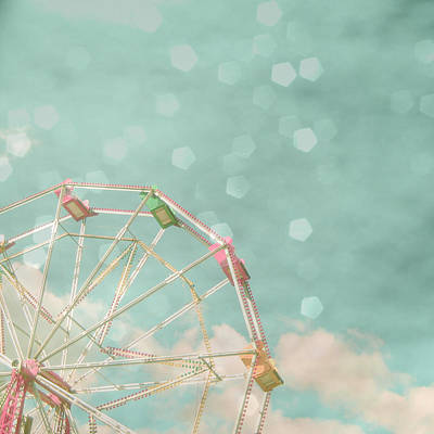 Silver Turquoise Photograph - Candy Wheel by Cassia Beck