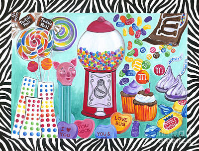 Art Print featuring the painting Candy Window by Carla Bank