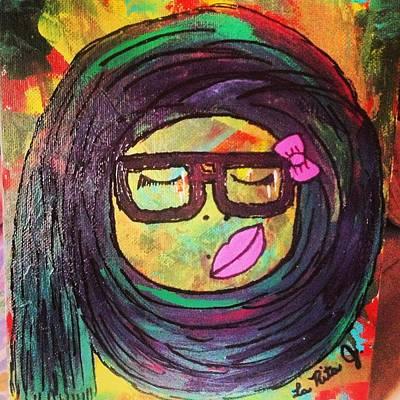 Hijab Painting - Candy Yum Yum by LaRita Dixon