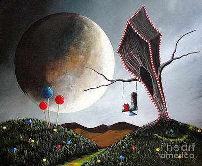 Big Moon Painting - Candyland By Shawna Erback by Shawna Erback