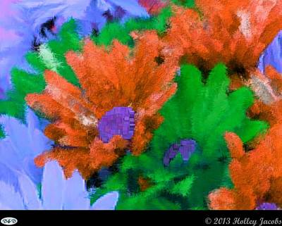 Digital Art - Candyland Red by Holley Jacobs