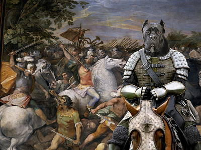 Painting - Cane Corso Art Canvas Print - In The Middle Of The Battle by Sandra Sij
