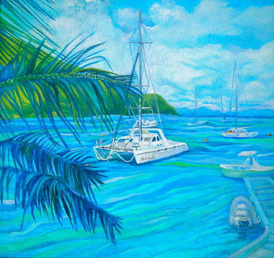 Painting - Cane Garden Bay by Kandy Cross