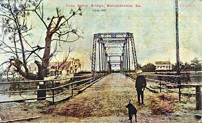 Photograph - Cane River Bridge C1909 by Audreen Gieger