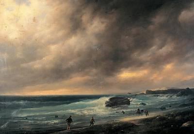 Canella Giuseppe, Storm On The Beach Art Print by Everett