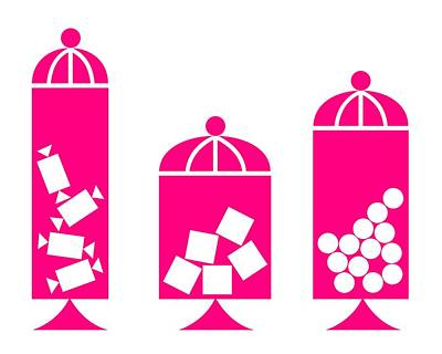 Canisters In Pink Art Print