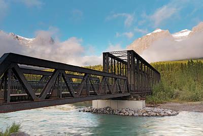 Canmore Engine Bridge On Bow River Art Print